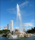 Central fountain in Chicago